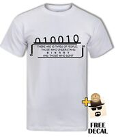 Funny Binary T-shirt, Computer science,coding,Clever,cool, Geek Nerdy tee, Men