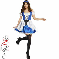 Ladies Sexy Alice Costume Womens Fairytale Wonderland Fancy Dress Party Outfit