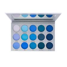 Kara Beauty 15 Color Cryolan Smoky Blue Eye Shadow Palette | ES22