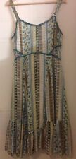 per Una Marks & Spencer Summer Dress UK 16 Lined Floaty Lemons Cream Green