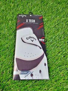 **NEW** Callaway X-Tech Golf Glove Men's RIGHT REG XL ~ White, Black, Red