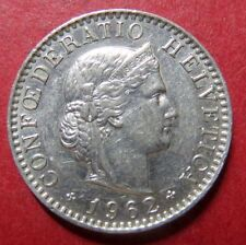 *SWITZERLAND, Vintage 1962  20 FRANCS HELVETICA COIN, Very Fine Circulated Coin