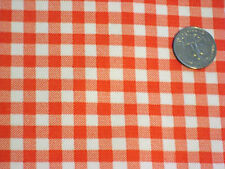 ORANGE GINGHAM CHECK COUNTRY KITCHEN OILCLOTH VINYL DINING TABLECLOTH 48x72 NEW