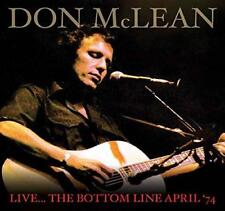 DON MCLEAN – LIVE IN NEW YORK, 1974 (NEW/SEALED) CD