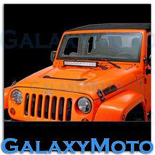 "20"" LED Light bar+Hood Mount Brackets for 07-15 Jeep JK Wrangler Rubicon Offroad"