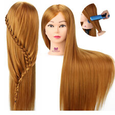 """30"""" Premium 100% Hairdressing Synthetic Hair Practice Training Head Mannequin"""