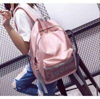 Women Shoulder Backpack New Handbag Pink Young Travel Rucksack Womens Girls Bag