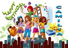 LEGO FRIENDS    - Personalised Birthday Greeting Card A5 Friend / son / any