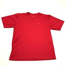 Reebok Mens Red Short Sleeve Shirt Size L Large Dry Fit Baggy Rbk Active Gym Tee