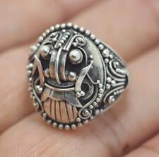 Handmade Solid Sterling Silver .925 Bali Barong Face Design Ring Sz 5,6,6.5