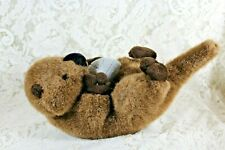 """AURORA SEA OTTER PLUSH Holding A Shell On Belly 12"""" Long"""