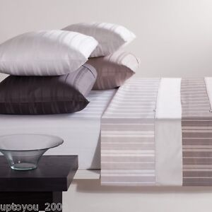 GAINSBOROUGH 300 THREAD COUNT PURE COTTON SHEET SET- KING BED -ESSENCE - White