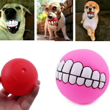Pet Dog Ball Teeth Funny Silicon Toy Chew Squeaker Squeaky Sound Dogs Toy Play