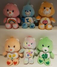 Care Bears - Lot Of 6 Beanies - Smalls - Carlton Cards - 2000's - Anniversary