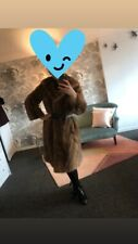 Amazing Vintage Winter Coat in real fur with belt