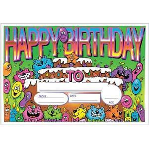 New Teachers School 5511 Happy Birthday Certificate (25 per pack)