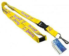New! Los Angeles Lakers NBA Detachable Key Chain ID Holder Lanyard