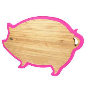 BAMBOO TRIVET W/ SILICONE EDGE DESIGN PIG