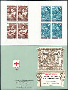 France B423a booklet, MNH. Red Cross. Paintings by N.Mignard:Summer,Winter, 1969