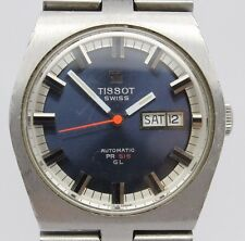 VINTAGE Tissot PR516 GL Automatic Mens 36mm Steel Watch Original Bracelet c.796