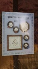 COUNTRY IN THE ROUND DOG CHICKERN SAMPLER CROSS STITCH PATTERN FREE SHIPPING