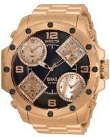 Invicta Shaq Men's 58mm Quartz 0.59ctw Diamond 5 Time Zone 33868