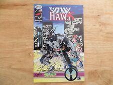 1992 IMAGE COMICS SHADOWHAWK # 2 SIGNED BY JIM VALENTINO, WITH COA
