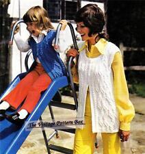 ARAN WAISTCOAT / VEST size child to adult - COPY Aran knitting pattern
