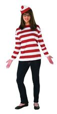 Where's Waldo Wenda Plus Deluxe Costume Shirt & Hat Fancy Dress Rubies