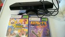 Xbox 360 Kinect Kamera Adapter + 2 Spiele gebraucht guter Zustand günstig Paket