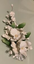 Gum Paste Off White Orchid And Stephanotis Floral Spray Cake Decorations