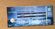 @ TICKET VIP LOGES - PARIS PSG - OM MARSEILLE - LIGUE 1 - SAISON 2013-14 @