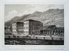 Bad Ems mit neuem Kurhaus seltener echter alter Stahlstich 1850