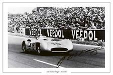 Juan Manuel Fangio Mercedes F1 foto firmada impresión