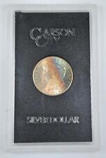 1884-CC Morgan Silver Dollar GSA Gold Cobalt Blue & Turquoise Obverse Toning