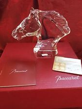 MIB FLAWLESS Stunning BACCARAT Crystal HORSE CHEVAL Head Bust Figurine Sculpture
