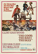 """Reproduction """"Clint Eastwood - Good, Bad & Ugly"""", Western Poster, Size A2"""
