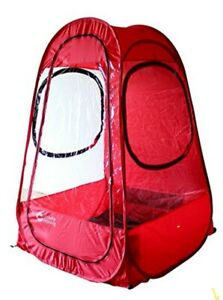 Climate Capsule Personal Pop-Up Pod Tent Protection Shelter, Red.