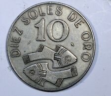 Monnaies, Pérou, République, 10 Soles 1969, KM 253 AG26