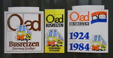 3x Sticker - Decal Oad busreizen with org.back 80's (1962)