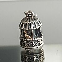 Authentic Pandora Song Bird Sterling Silver with 14 K Charm 791114