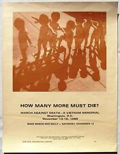 How Many More Must Die? Anti-Vietnam War Poster, New Mobilization Committee, '69