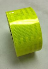 """6"""" Reflective Truck Trailer Conspicuity Safety Tape 3M Fluorescent Yellow Green"""