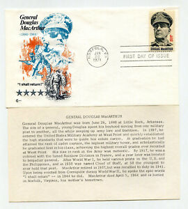 1424 General Douglas MacArthur Cover Craft Cachets, CCC, FDC