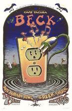 MINT/SIGNED/DOODLED Beck 2000 EMEK California Tour Silkscreen Poster