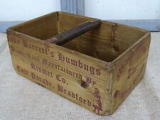 C3 vintage Caisse ~ rismet Co. East Parade Bradford~ Boîte en bois ~ shabby chic