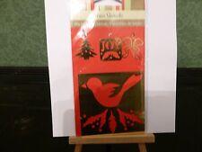 OTTONE Stencil il Natale Uccellino su un ramo, albero di Natale, fiocco, Joy Card Making