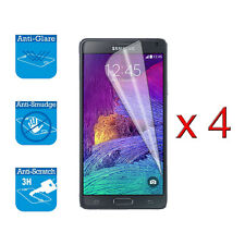 4 x Screen Cover Guard Shield Film Foil For Samsung Galaxy Note 4 Protector