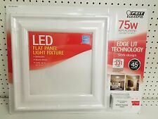 New Feit Electric LED Flat Panel Ceiling Light Fixture 14W 75W  Dimmable Save