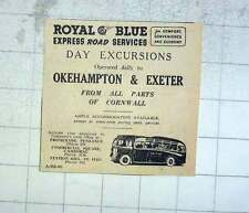 1950 Royal Blue Express Road Services Day Excursions All Parts Cornwall